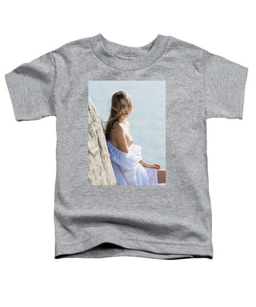 Girl In White Dress Toddler T-Shirt