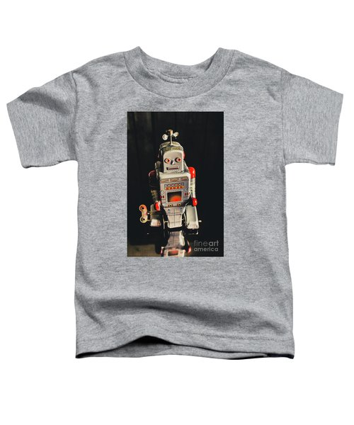 70s Mechanical Android Bot  Toddler T-Shirt