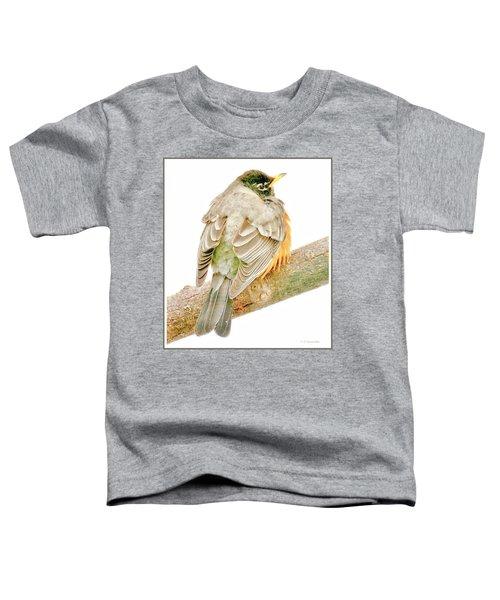 American Robin Male, Animal Portrait Toddler T-Shirt