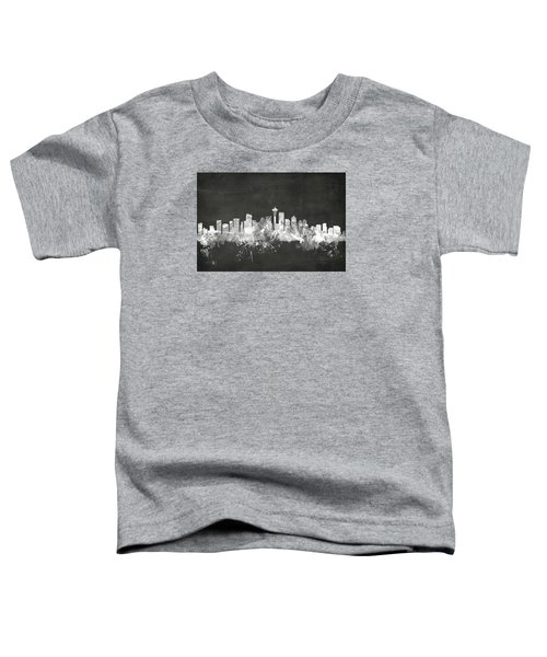 Seattle Washington Skyline Toddler T-Shirt by Michael Tompsett
