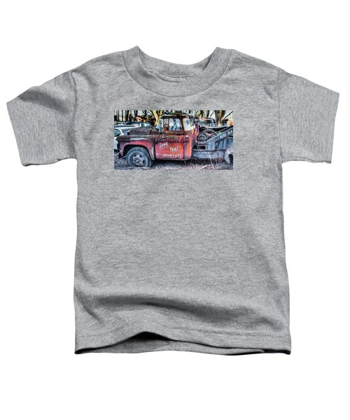A Beautiful Rusty Old Tow Truck Toddler T-Shirt