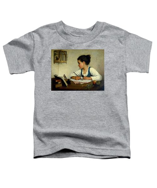 A Girl Writing. The Pet Goldfinch Toddler T-Shirt