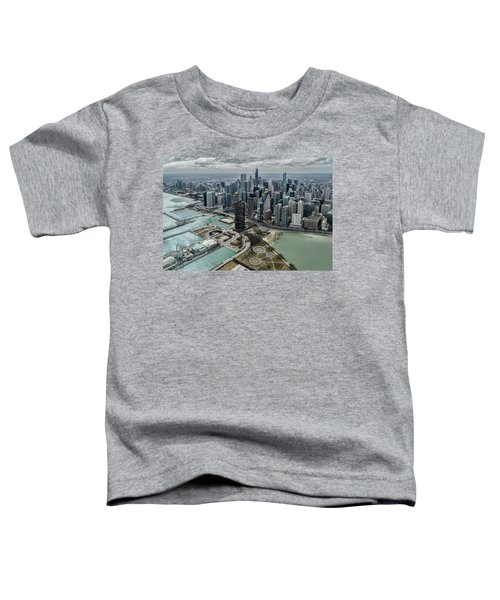 A Helicopter View Of Chicago's Lakefront Toddler T-Shirt