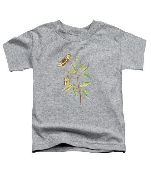 A Kanalla Branch With A Butterfly By Cornelis Markee 1763 Toddler T-Shirt