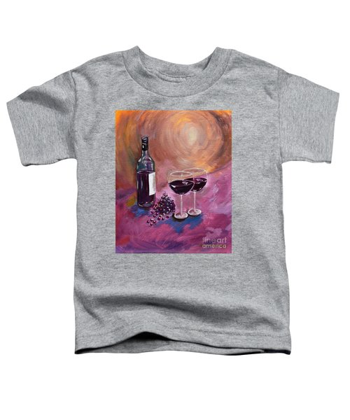 A Little Wine On My Canvas - Wine - Grapes Toddler T-Shirt