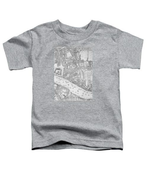 A Map Of The Tower Of London Toddler T-Shirt by John Rocque