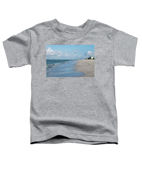 A Morning Walk On Fort Myers Beach Fort Myers Florida Toddler T-Shirt