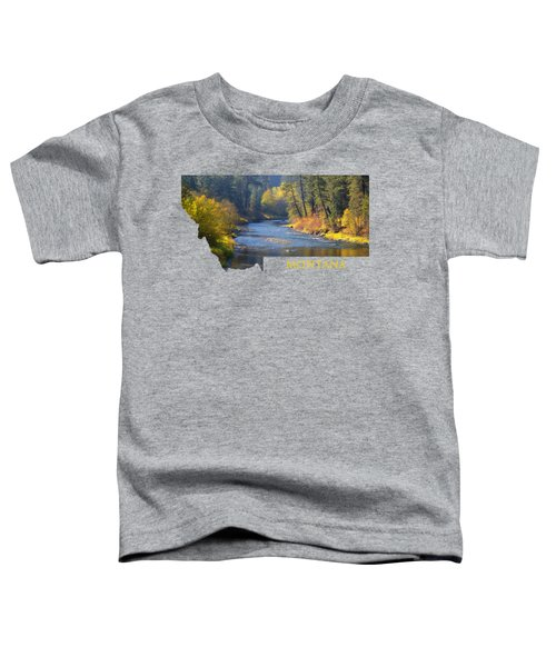 A River Runs Thru Autumn Toddler T-Shirt