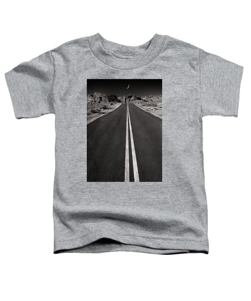 A Road With A Moon  Toddler T-Shirt