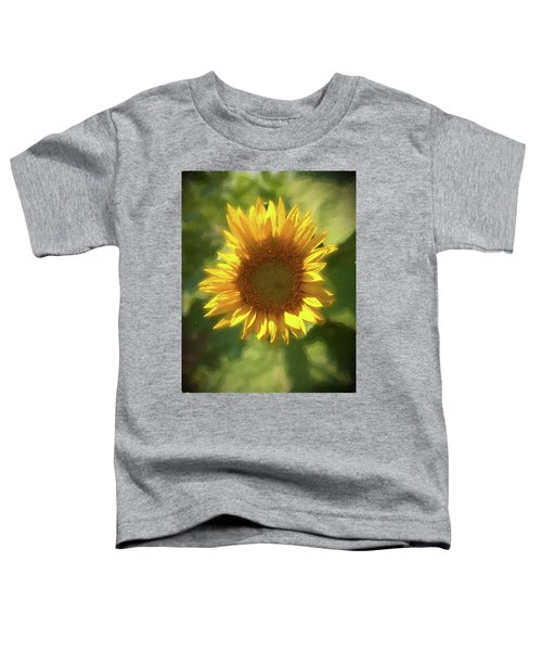 A Single Sunflower Showing It's Beautiful Yellow Color Toddler T-Shirt