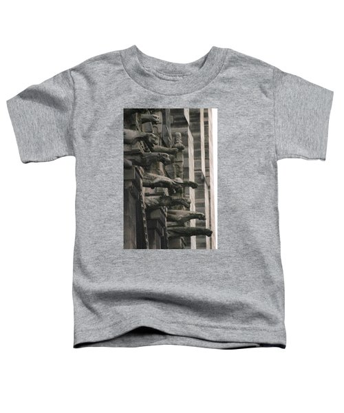A Wall Of Gargoyles Notre Dame Cathedral Toddler T-Shirt
