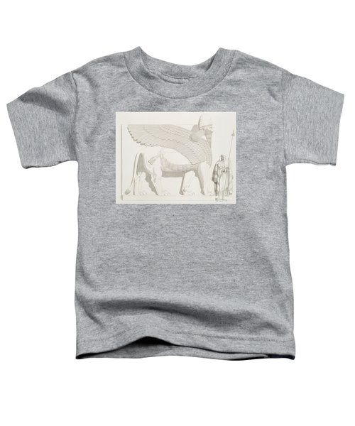 A Winged Human-headed Lion From Nimroud Toddler T-Shirt