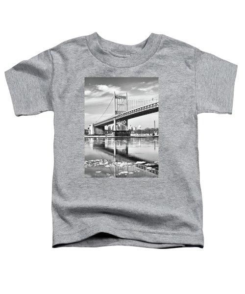A Winter Portrait Of The Triboro Bridge Toddler T-Shirt