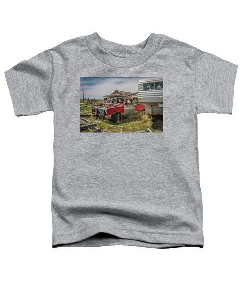 Abandoned Car And Trailer In The Ghost Town Of Cisco, Utah Toddler T-Shirt