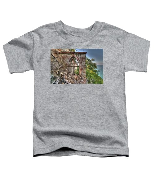 Abandoned Places Iron Gate Over The Sea - Cancellata Sul Mare Toddler T-Shirt