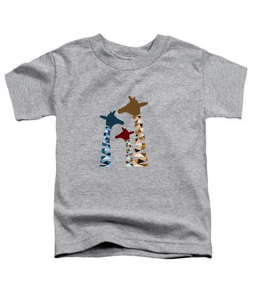 Abstract Colored Giraffe Family Toddler T-Shirt by Brigitte Carre