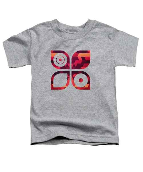 Abstract  Geometric Triangle Texture Pattern Design In Diabolic Future Red Toddler T-Shirt