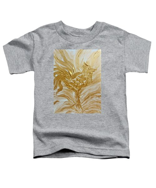 Abstract Golden Rooster Toddler T-Shirt