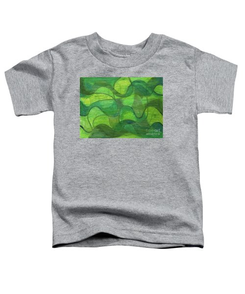 Abstract Green Wave Connection Toddler T-Shirt