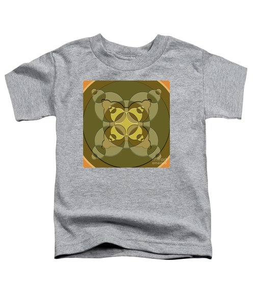 Abstract Mandala Green, Dark Green And Brown Pattern For Home Decoration Toddler T-Shirt