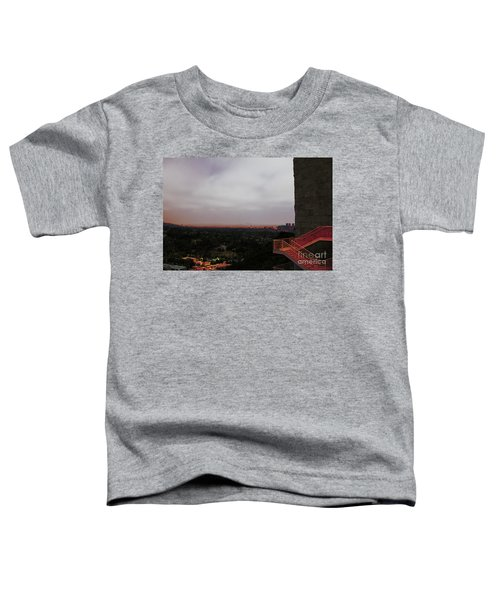 Abstract Mixed Media Getty View Los Angeles California  Toddler T-Shirt