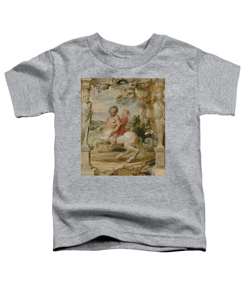 Achilles Educated By The Centaur Chiron Toddler T-Shirt