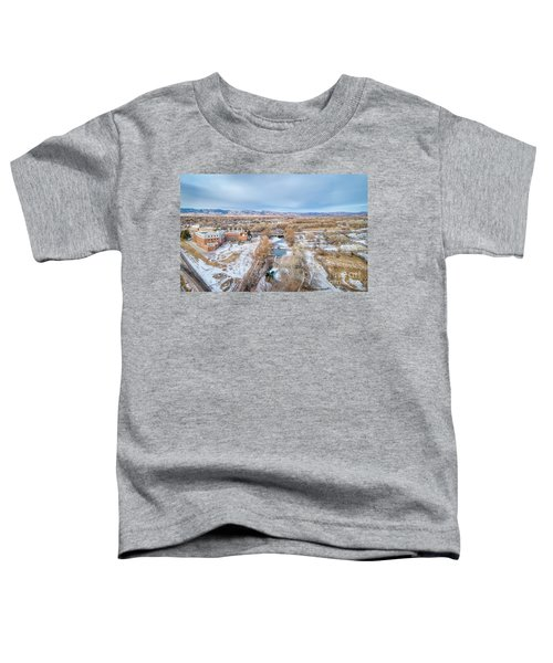 aerial cityscape of Fort Collins Toddler T-Shirt