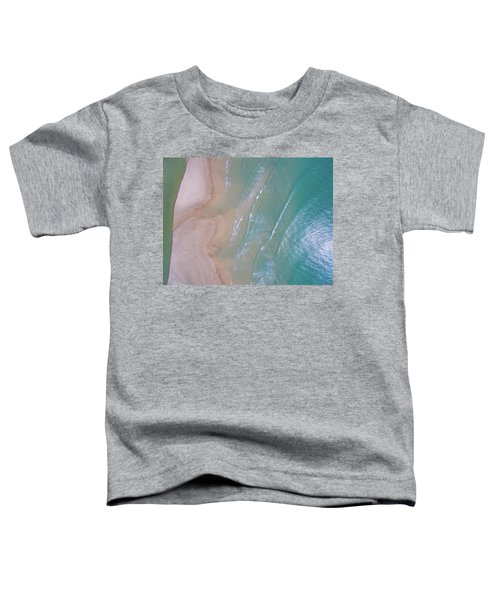 Aerial View Of Beach And Wave Patterns Toddler T-Shirt