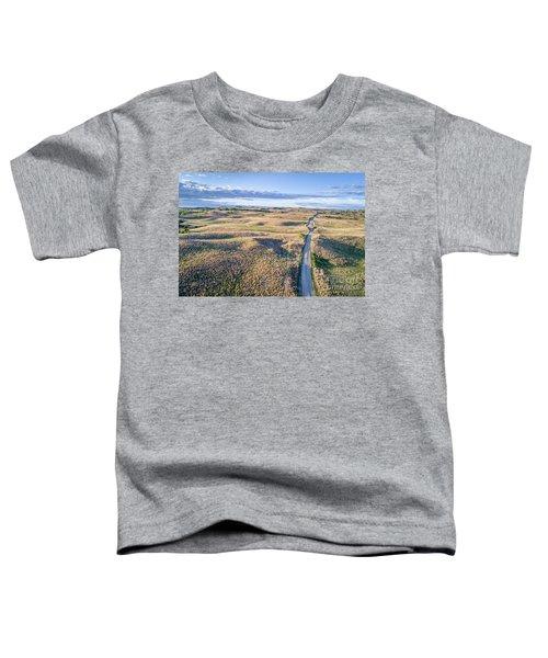 aerial view of Nebraska Sandhills  Toddler T-Shirt