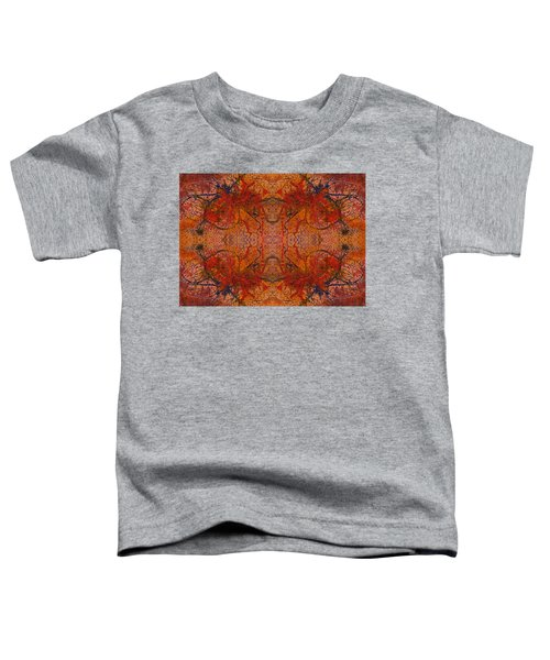 Aflame With Flower Quad Hotwaxed Version Of Acrylic/watercolour Toddler T-Shirt