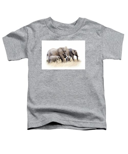 African Elephant Group Isolated Toddler T-Shirt