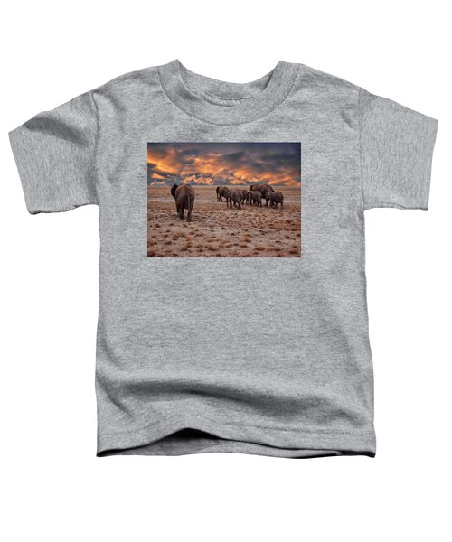 African Elephants Toddler T-Shirt