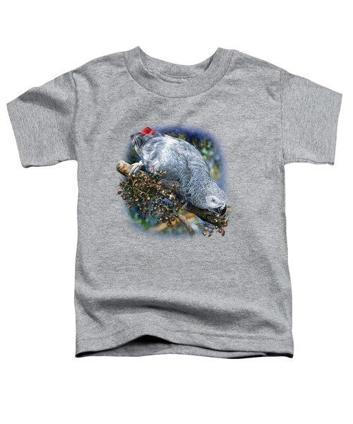 African Grey Parrot A1 Toddler T-Shirt by Owen Bell