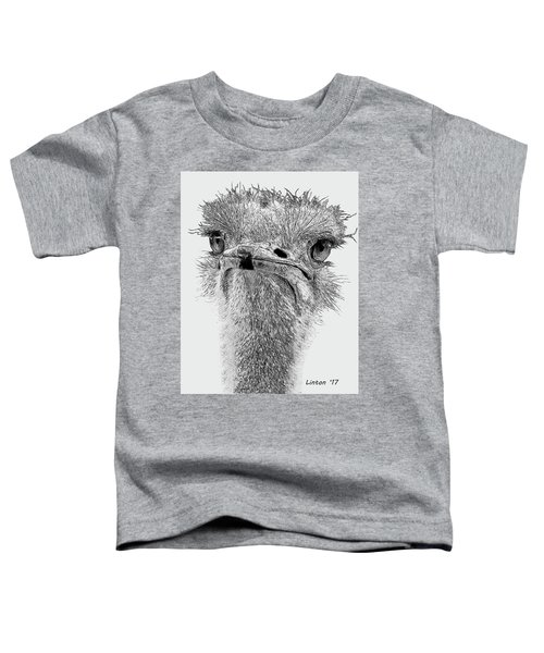 African Ostrich Sketch Toddler T-Shirt