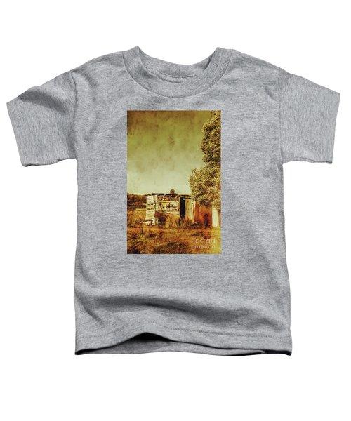Aged Australia Countryside Scene Toddler T-Shirt