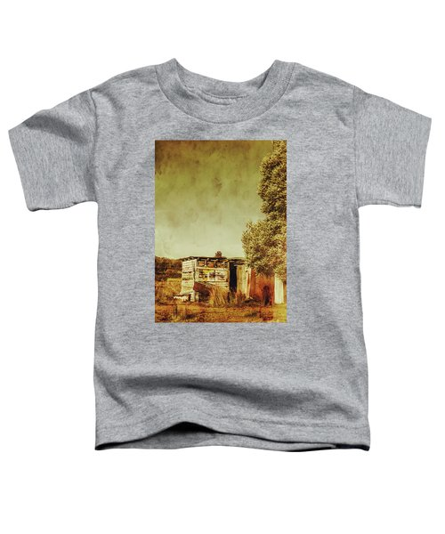 Aged Australia Countryside Scene Toddler T-Shirt