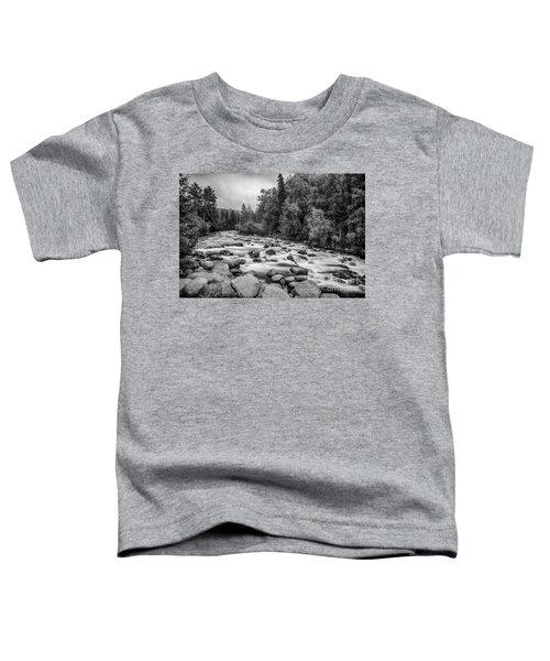 Alaskan Stream In Black And White Toddler T-Shirt