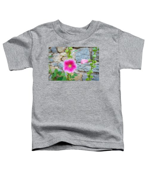 Alcea Rosea Is Known As Common Hollyhock Toddler T-Shirt