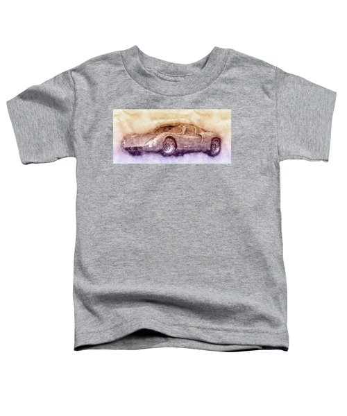Alfa Romeo 33 Stradale 3 - 1967 - Automotive Art - Car Posters Toddler T-Shirt