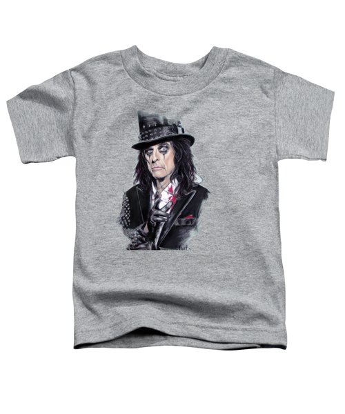 Alice Cooper Toddler T-Shirt by Melanie D