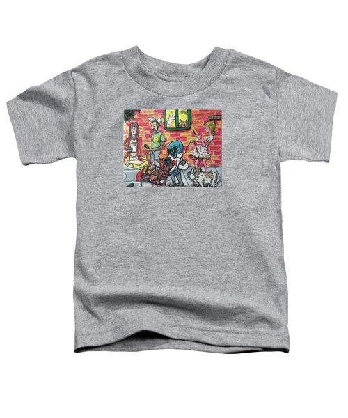 Aliens Love Dogs Toddler T-Shirt