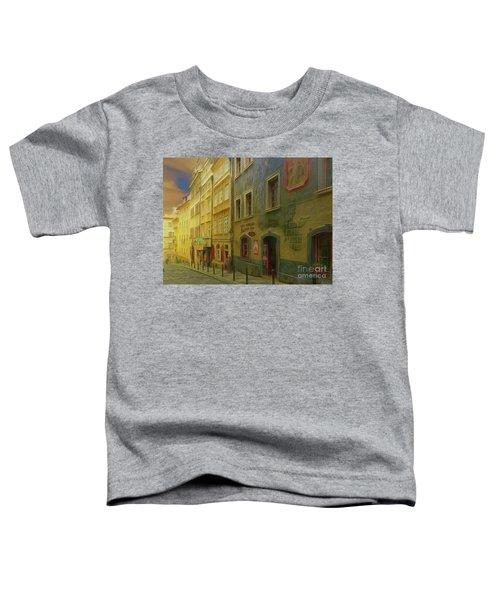All Downhill From Here - Prague Street Scene Toddler T-Shirt