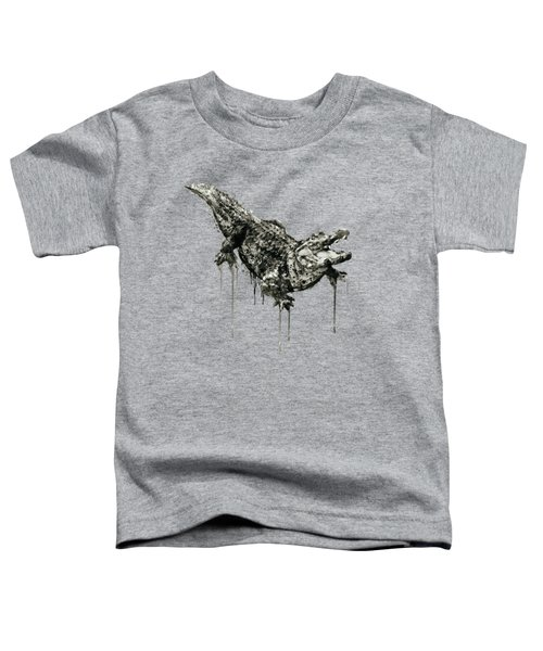 Alligator Black And White Toddler T-Shirt