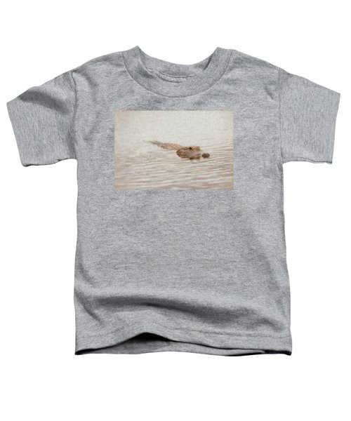 Alligator Waiting In The Water Toddler T-Shirt