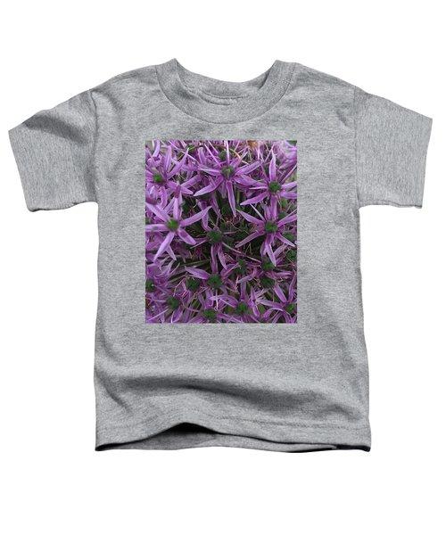 Allium Stars  Toddler T-Shirt by Kathy Spall