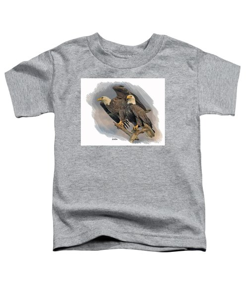 American Bald Eagle Pair Toddler T-Shirt
