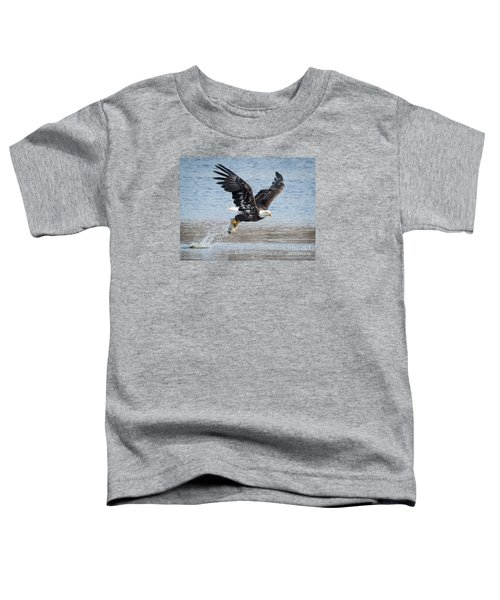 American Bald Eagle Taking Off Toddler T-Shirt by Ricky L Jones