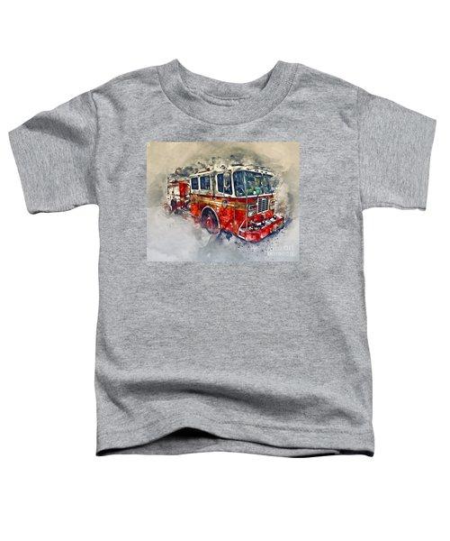 American Fire Truck Toddler T-Shirt
