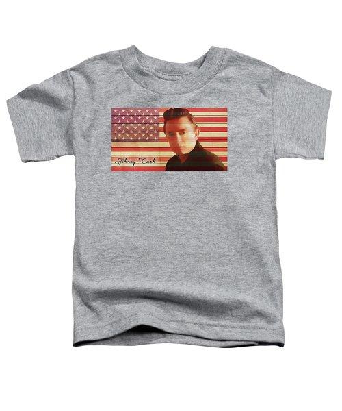 American Icon Johnny Cash Toddler T-Shirt