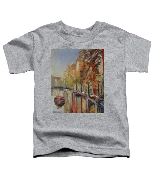 Amsterdam Autumn With Boat Toddler T-Shirt